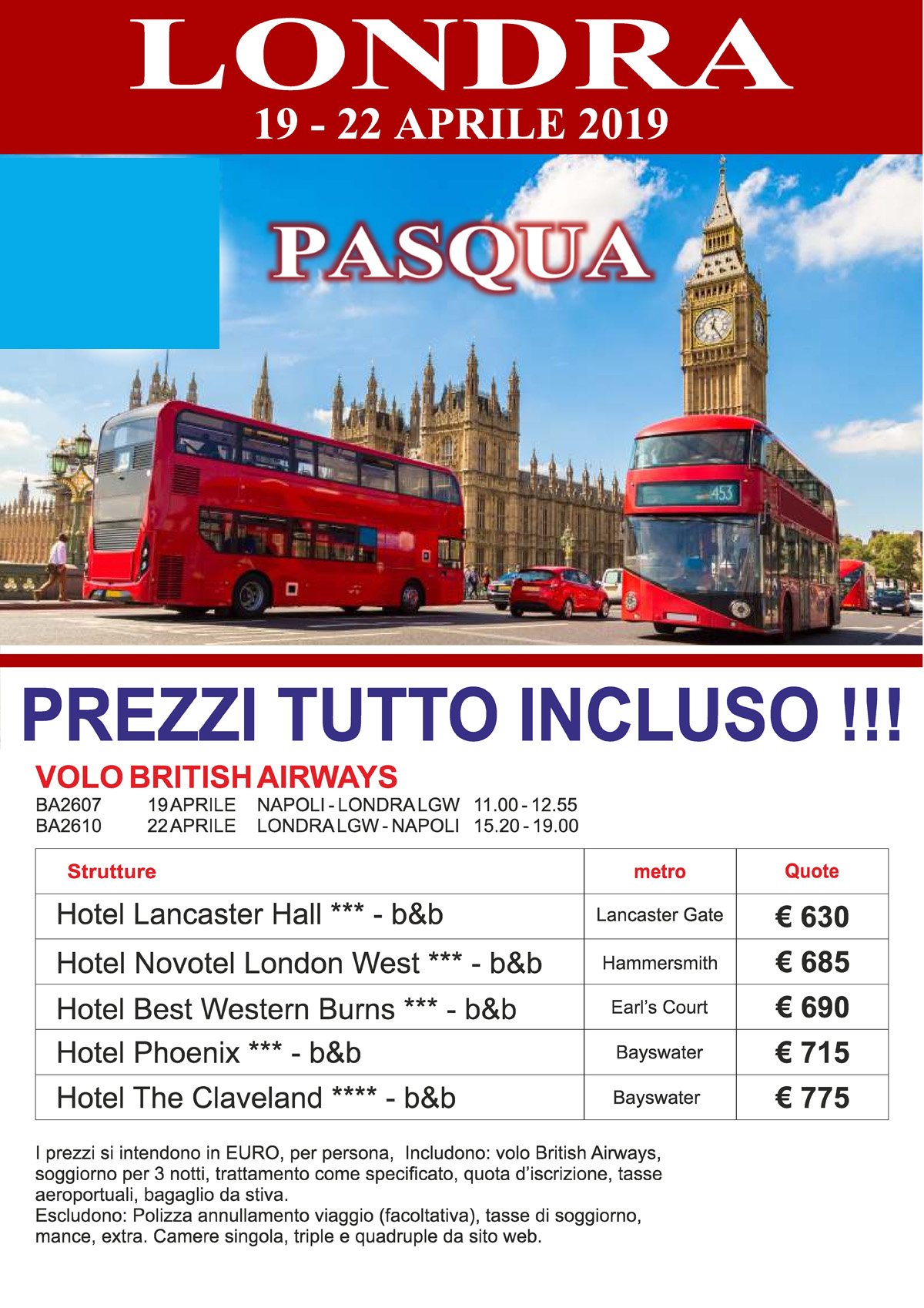 Pasqua LONDRA – Offerte Last Minute